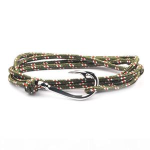 K Fashion Jewelry Designer Rope Bracelets Men Women Luxury Charm Silver Fish Hook Bracelets Magnet Man Bangles 21