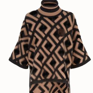 Maglione donne maglioni ff autunno e inverno doppio ff stampa alto collo pullover maglione maglione donna donne designer designer vestiti donne