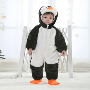 Clearance sale Baby One Piece Romper Girl Penguin Modelling Jumpsuits Kids Climb Clothes Fashion Long Sleeve Jumpsuit Z295