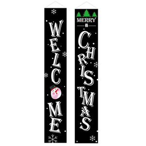 Merry Christmas Decorations For New Hot Home Door Banners Hanging Christmas Decorations Happy New Year 2021