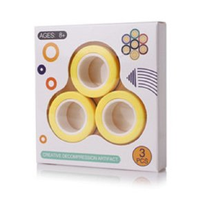 Bague magnétique chaude Jouet Jouet Anti-stress Fielfears Stress Reliver Finger Spinner Toys Anneaux Pour Adultes Enfants Christmas Cadeaux 3PCS / Set-B