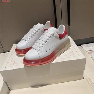 Классические повседневные маленькие белые туфли прозрачные воздушные подушки для подушки износа устойчивые нескользящие плоские ботинки, с оригинальной коробкой 34-40