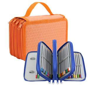 School Student Oxford Bag New Fashion 72 Holes 4 Layers Pencil Case Marker Storage Colored Pencils Pen School Supplies Hot Sale