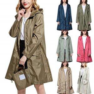 Largo impermeable fino mujeres hombres impermeable capucha luz luz de lluvia ponchos chaqueta capa hembra chubasqueros impermeables mujer y200324