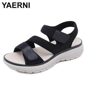 YANI DONNA SANDALS SANDALS MD Pelle Suole Sport Tempo libero Confortevole Big Yards of Shoes1