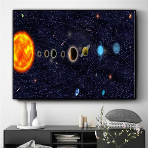 Large Beautiful starry sky Home Decor Handpainted &HD Print Oil Painting On Canvas Wall Art Canvas Pictures ,F201205