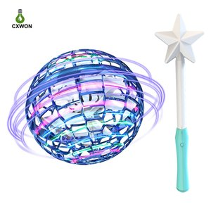Novel Flying Ball Toys Hand Controlled 360° Rotating Shining LED Lights Drone with Magic Controller for Kids Adults Helicopter Fly nova Ball