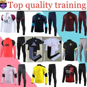 Adulto Marsiglia 20 21 uomini Real Madrid Ootball Training Trainsuit Trainsuit Soccer Tuta 2020 2021 Survedeement de Foot Chandal Football Football Jogging