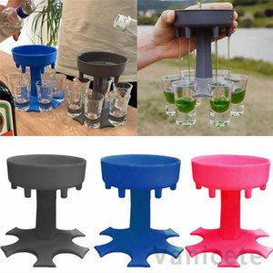 6 Shot Cam Dağıtıcı Tutucu Şarap Cam Raf Soğutucu Bira İçecek Dağıtıcı Buddys Parti Hediyeler Bar İçme Araçları100 adet T1I3073