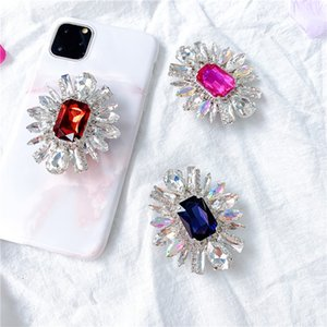 Fashion Diamond Bling Cell Phone Finger Holder Universal Expanding Phone Stand Bracket Lazy Phone Holder Accessories