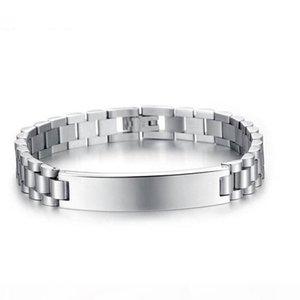 K 10mm Id Cuban Bracelets Charm 316l Stainless Steel Bracelet For Men Women Hip Hop Jewelry Gifts Adjustable Length