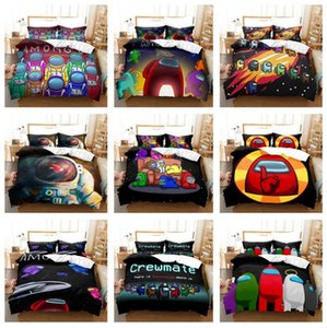 Game Among Us Bedding Sets 3D Cartoon Digital Printing Three Quilt Cover Pillowcase Bedsheet Cover Suit Duvet Cover Bedding Sets E121005