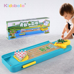 Mini Desktop Bowling Game Toy Funny Indoor Parent-Child Interactive Table Sports Game Toy Bowling Educational Gift For Kids Q1214