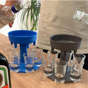 6 Shot Glass Dispenser Holder Shot Buddy Wine liquor Fill Tool Cooler Beer Beverage Drink Dispenser Party Bar Accessories T3I51503