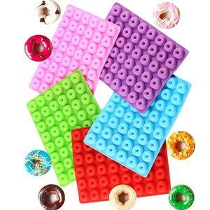 Silikon Donut Kek Kalıp DIY Donuts Kalıp 48 Delik Pişirme Çerez Çikolata Yumuşak Şeker Ve Sert Şeker Yaratıcı Kalıp ZYY439