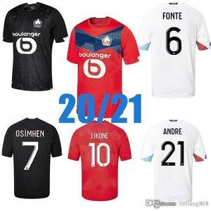Top 2020 2021 Lille OSC Fussball Jersey Yilmaz R.LEAO XEKA BAMBA J.DAVID Home 20 21 Männer Andfootball Shirt