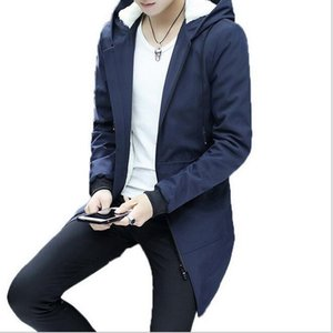 VXO Men Winter Jacket Warm Winter Jacket men hooded Slim Korean Parka Hombre long coat cashmere mens windbreaker Parkas