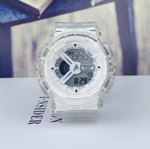 Neue Sport-elektronische transparente Uhr digitaler elektronischer Uhren-Sport-Anti-Shock- und Anti-Herbst-Studentenuhr