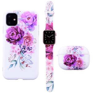 Luxurys designers for Apple Series silicone three-piece phone case watchband earphone case three pieces sold as a whole