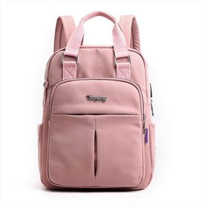 Puimentiua Nylon Women School Backpacks Anti Theft USB Charge Backpack Waterproof Bagpack School Bags Teenage Girls Travel Bag