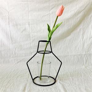 Criativo Iron Vaso Vaso Planter Rack Flor Potes Prateleira Bardian Ferro Vaso Decoração Soilless Pots Organizador Decoração Home Accessori 81 G2