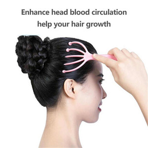 2020 New Head Scalp Massager Comb Neck Magnetic Massage Octopus Claws Roller Ball Relax SPA Hair Care for Hair Growth Stress Relief Rest