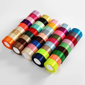 Free Shipping 1Roll Pack Silk Ribbon Width=4cm Length=22m Different Colors for Different Occasion Using