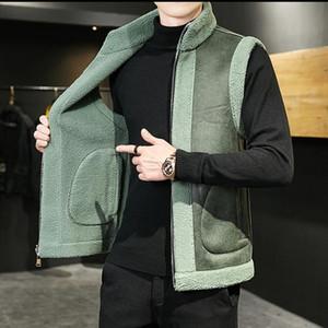 KOLMAKOV 2020 New Shorn Sheepskin Fur Vest Korean Two-sided Wool High-Necked Waistcoat 6 Color Plus Size M-8XL