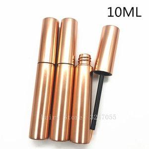 10ml Eyeliner Tube Cosmetic Empty Eyelashes Tube Mascara Eyeliner Vials Bottle Makeup Rose Gold Container with Brush Plugs