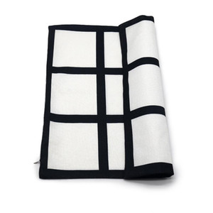 9 panel pillow cover Sublimation Pillow case black grid woven Polyester heat transfer cushion cover throw sofa pillowcases 40*40cm GWE4115