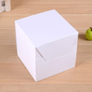 10pcs White Gift Boxes Paper Packing Boxes Gift Cases DIY Square Storage For Cupcake Handmade Soap Craft 12 X 12 X 12cm