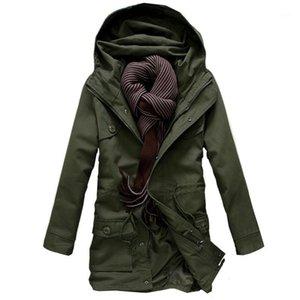 Left ROM 2019 Moda Masculino Alto Grau Horário Inverno Longo Hoodie Jackets / Homens Lazer Algodão Acolchoado Roupas1