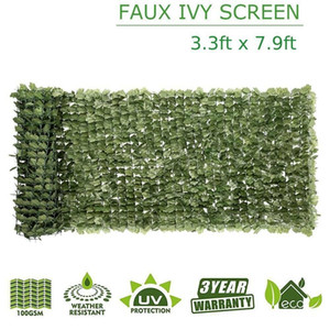 """Artificial Faux Ivy Maple Leaf Decorate Privacy Fence Screen Hedge 39"""" x 94"""" New"""