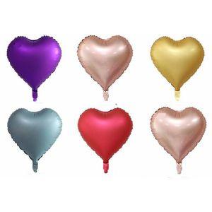 18 inch heart Metallic Balloon Air Wedding Decoration Happy Birthday Balloon Metal colour Heart Helium Balloon HWD3211