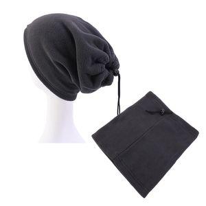 4 Colors Outdoor Sports Hair Cap Fleece Collar Windproof Hood Head Cover Hat Adjustable Styling Tool