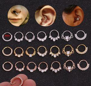 Micro Nails Jewelry Inlay Piercing Nail Ring Zircon Creative Bone Septum Human Nose Nails Nasal Ear Round sqcYT lihuibusiness