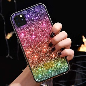 Bling Glitter Phone Case Rainbow Gradient Protective Cover for iPhone 12 11 Pro MAX XR X XS 8Plus Samsung Galaxy S10 S20