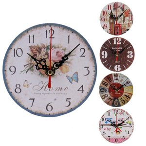 DIY wall acrylic clock Vintage Style Non-Ticking Antique Wood Wall Clock for Home Kitchen Decor on the x30523