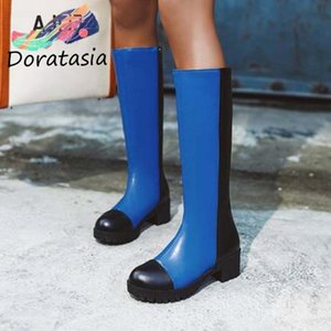 DORATASIA Ins New Arrival Women Zipper Platform Mid Calf Shoes Chunky Stylish Design Spring Autumn Boots Women Boots