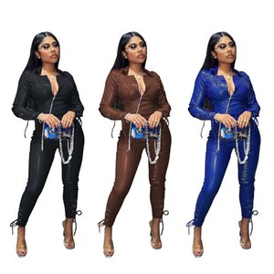 womens PU hoodie legging two piece set outfits long sleeve tracksuit jacket pants sportswear outerwear tights sports set hot LY505