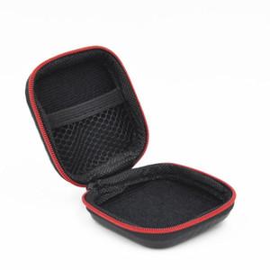 Carbon Fiber Zipper Bag for Earphone Cable Mini Box SD Card Portable Coin Purse Headphone Bag Carrying Pouch Pocket Hard