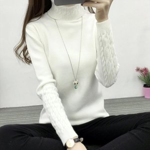 Turtleneck Women Sweater Winter Warm Female Jumper Thick Christmas Sweaters Ribbed Knitted Pullover Top Pull Hiver Femme