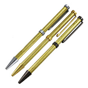 Prata DIY Gun Work Golden 3Color Preto Chrome Stock Atualizar conjunto completo de caneta de madeira 7mm woodturning kits de caneta de madeira slimline com recarga