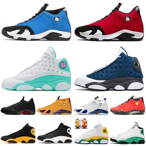 retro 13 13s 14 14s New Jumpman 13 13s Basketballschuhe 14 14s XIV Gym Red Soar Green Flint Herren Womens Reverse Game Red Suede Trainer Sport Sneakers