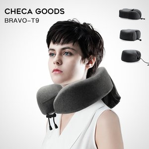 CHECA GOODS Travel Pillow 100% Memory Foam Neck Pillow Comfortable & Breathable Cover Machine Washable Airplane Travel u shaped 201219