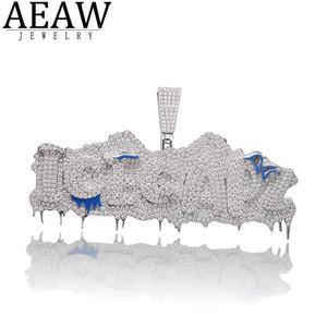 AEAW Benutzerdefinierte Hiphopjjewelry Rapper Schmuck MOISSANITE Anhänger Solid 10k Gold oder Silber