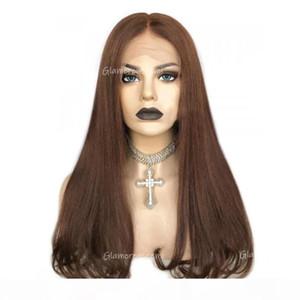 Perruques frontales de la dentelle droite brésilienne avec une densité de cheveux bébé 150 Nouvelle tendance T PARTIE PERVOI DE CHEVEUX HUMUME COLORÉ 4 PERMINES REMY POUR LA FEMME