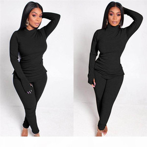 womens clothing long sleeve outfits 2 piece set brand sportsuit pullover + legging tops + pant women clothes jogger sport suit klw4803