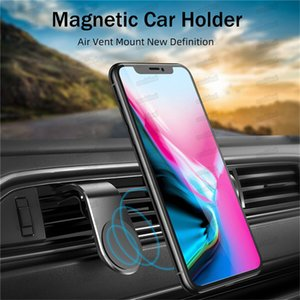 Magnetic Car Phone Holder L Shape Air Vent Mount Stand in Car GPS Mobile Phone Holder for iPhone 12 Samsung Smart Phone Free DHL