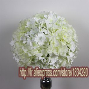 heat! 30cm 10pcs lot Artificial kissing ball Dali and Hydrangea wedding decoration Table centerpiece flower TONGFENG